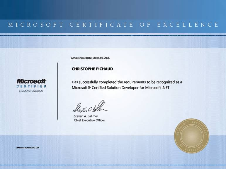 Microsoft Certificate of Excellence – Do it matters ? – Services ...