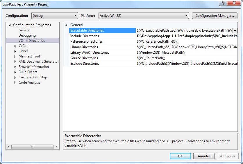 Using log4cpp with Visual Studio 2015 | ChristopheP on